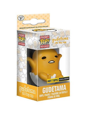 Funko Pocket Pop! Keychain Gudetama The Lazy Egg Hot Topic Exclusive