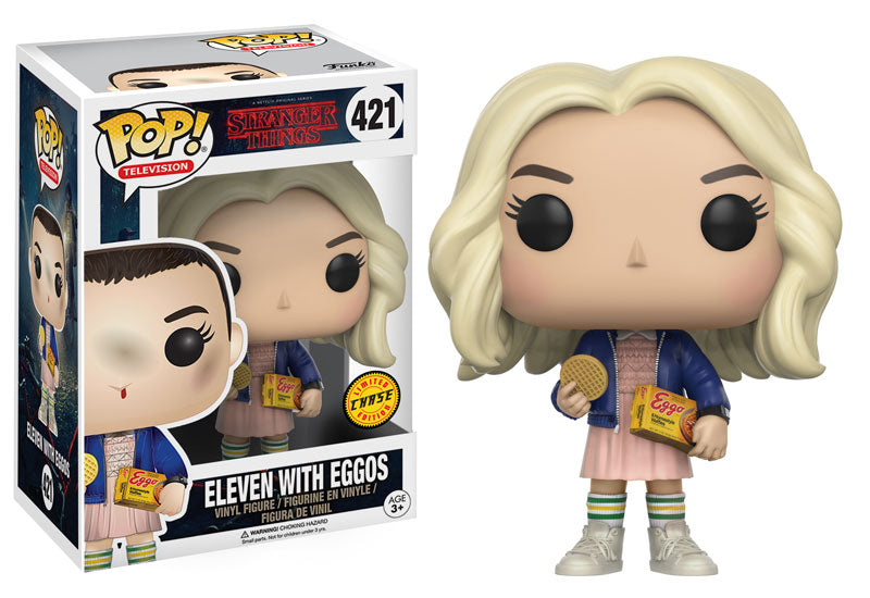 Funko Pop! Television Stranger Things #421 Eleven with Eggos (Wig) Limited Edition Chase