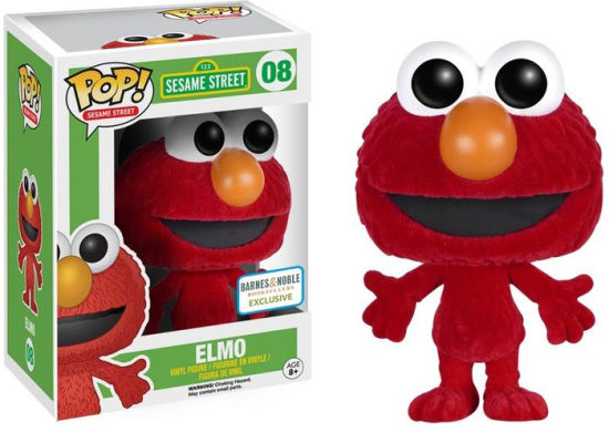 Funko Pop! Sesame Street #08 Elmo (Flocked) Barnes & Noble Exclusive