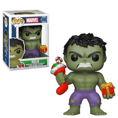 Funko Pop! Marvel #398 Hulk Holiday (with Stocking & Presents)
