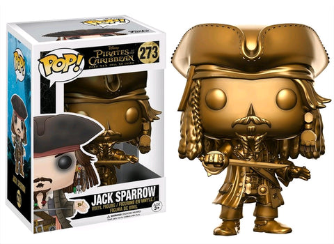 Funko Pop! Disney Pirates of the Caribbean #273 Jack Sparrow (Gold) Hot Topic Exclusive