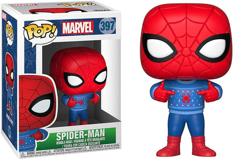 Funko Pop! Marvel #397 Spider-Man Holiday (Ugly Sweater)