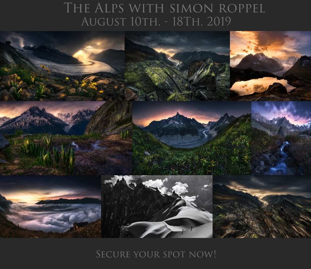 The Alps Photo Tour - August 10th. - 18th, 2019