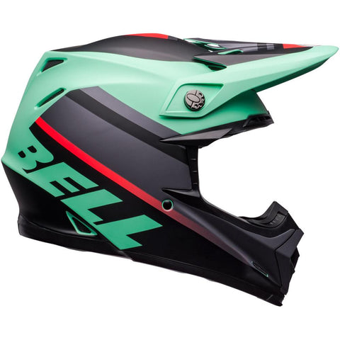 BELL 2020 MOTO-9 MIPS PROPHECY GREEN/INFRARED HELMET