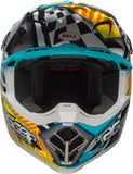 2018 BELL MOTO-9 WITH MIPS TAGGER ASYMMETRIC GLOSS YELLOW/BLUE/WHITE