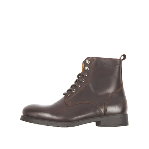HELSTONS CITY LEATHER BOOTS - ANILINE BROWN