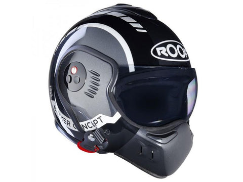 ROOF BOXER V8 LP20 BLACK/METAL/WHITE HELMET