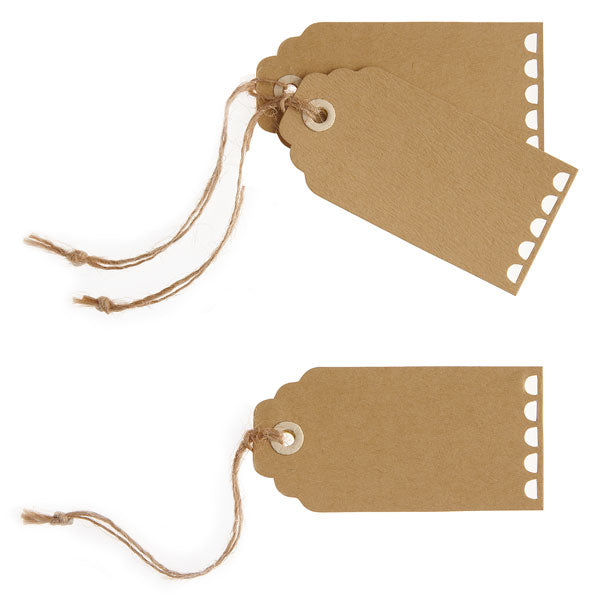 Vintage Wedding Brown Tags