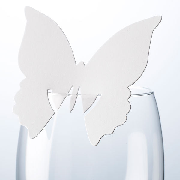 White Butterfly Place Card