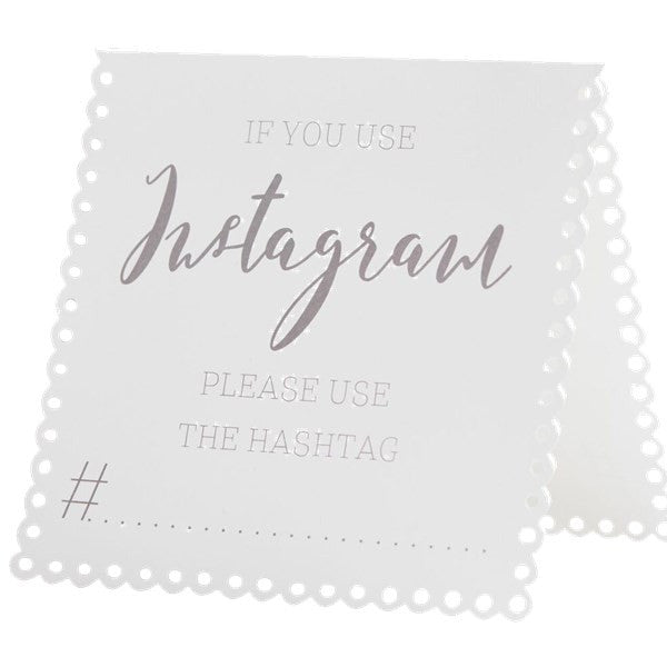 Beautiful Botanics Instagram Tent Card