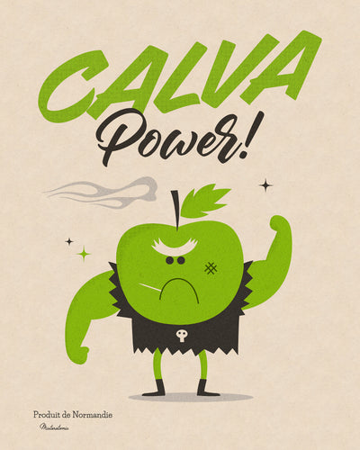 Affiche déco 'Calva Power'