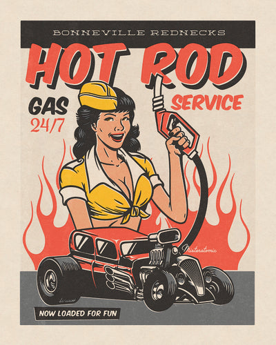 Affiche déco 'Hot Rod'