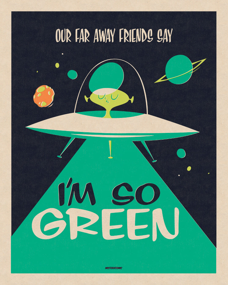 Affiche déco 'I'm so Green'