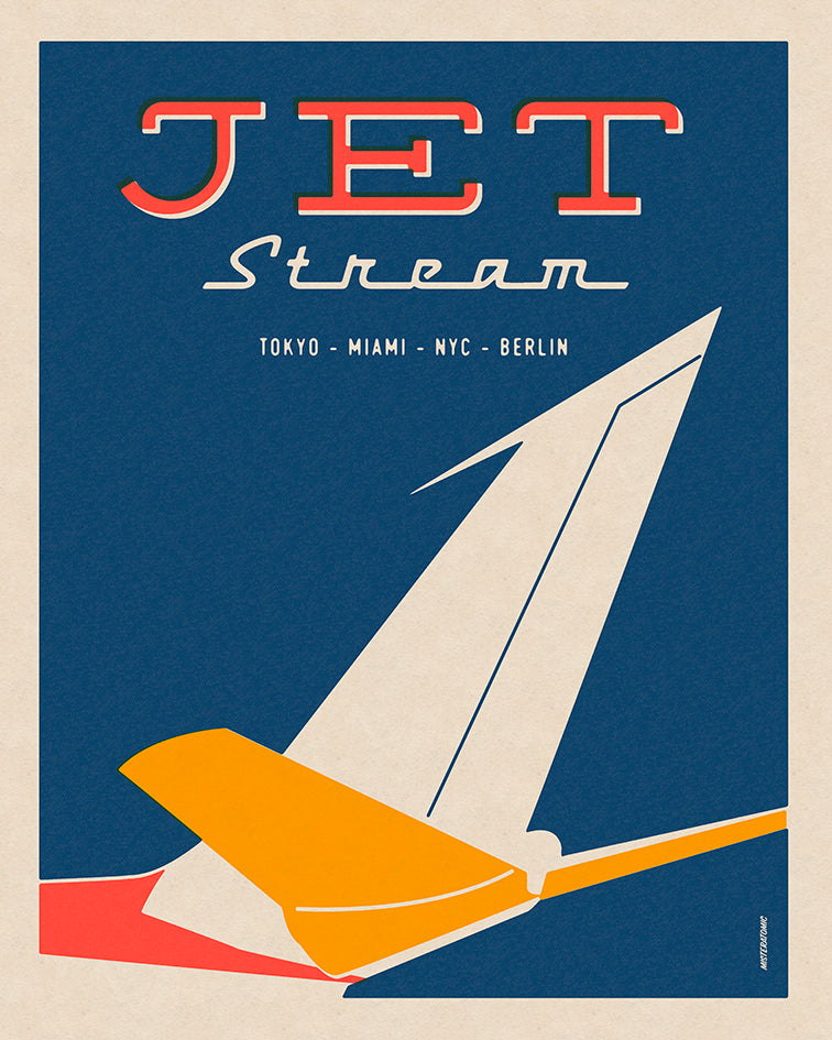 Affiche déco 'Jet Stream' - SOLD OUT