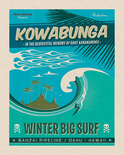 Affiche déco 'Kowabunga' - SOLD OUT