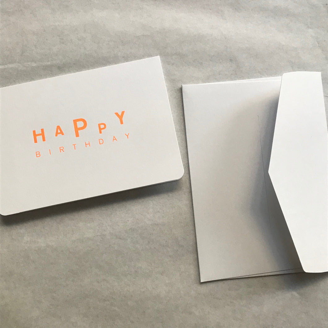 Carte double + enveloppe - Happy Birthday (2)- Le Typographe