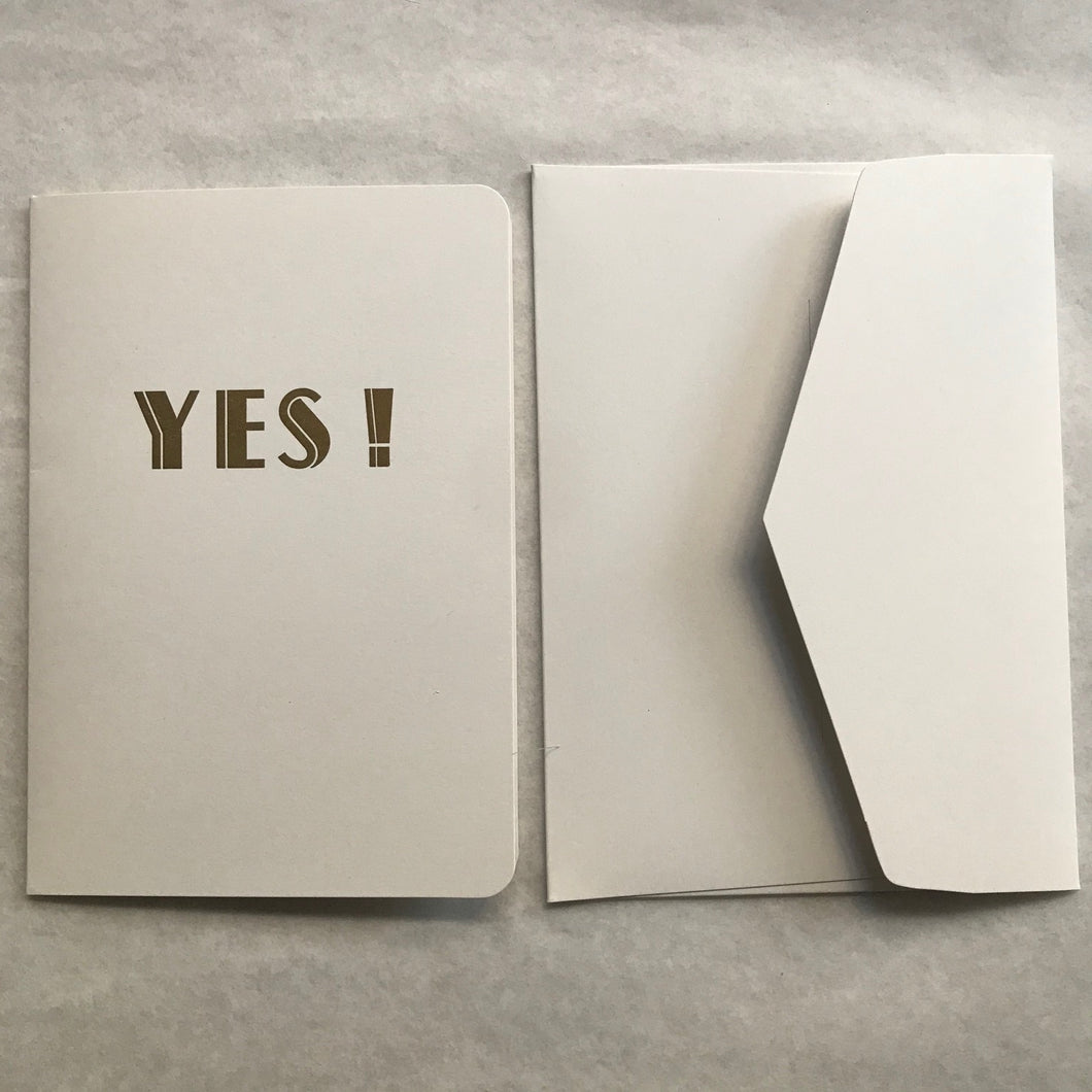 Carte double + enveloppe - Yes - Le Typographe