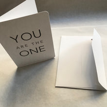 Carte double + enveloppe - You are the one - Le Typographe