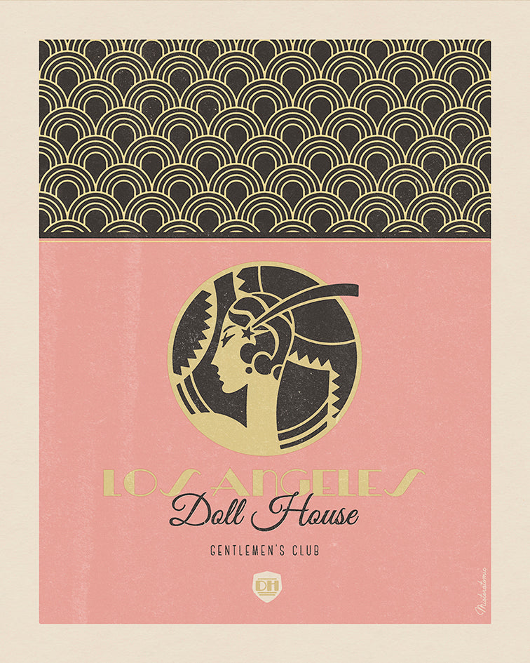Affiche déco 'Los Angeles Doll House' - SOLD OUT