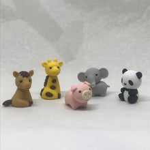Set de 5 gommes 'animaux mix 1'