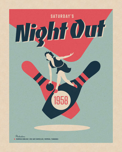 Affiche déco 'Night Out'