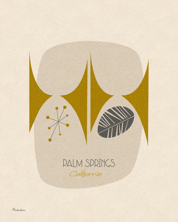 Affiche déco 'Palm Springs'