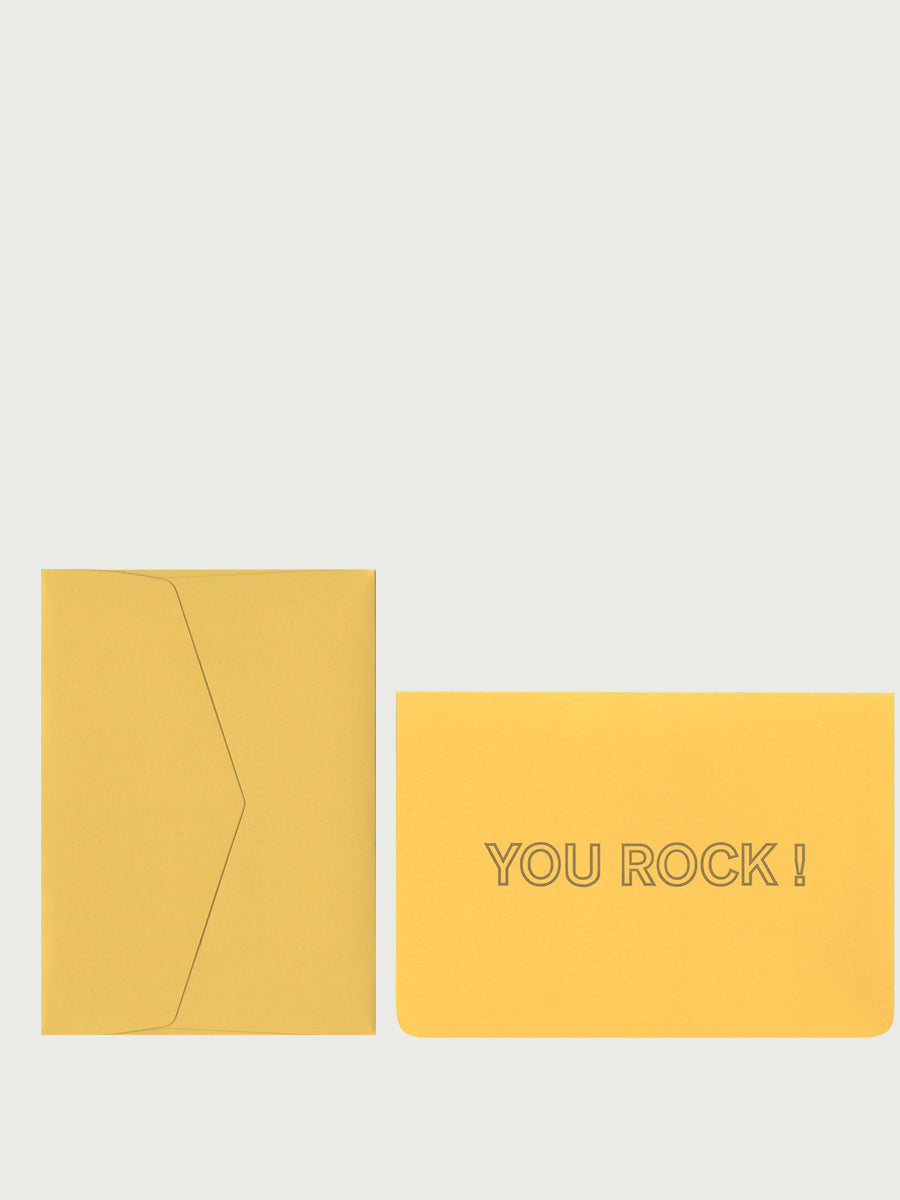 Carte double + enveloppe - You Rock