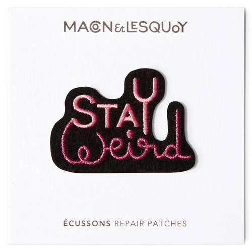Ecusson Macon & Lesquoy 'stay weird'