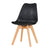 Eames Style Dining Chairs Black with padded seat - Pre order now Back in stock from 1st Feb 2021 - Fervor + Hue