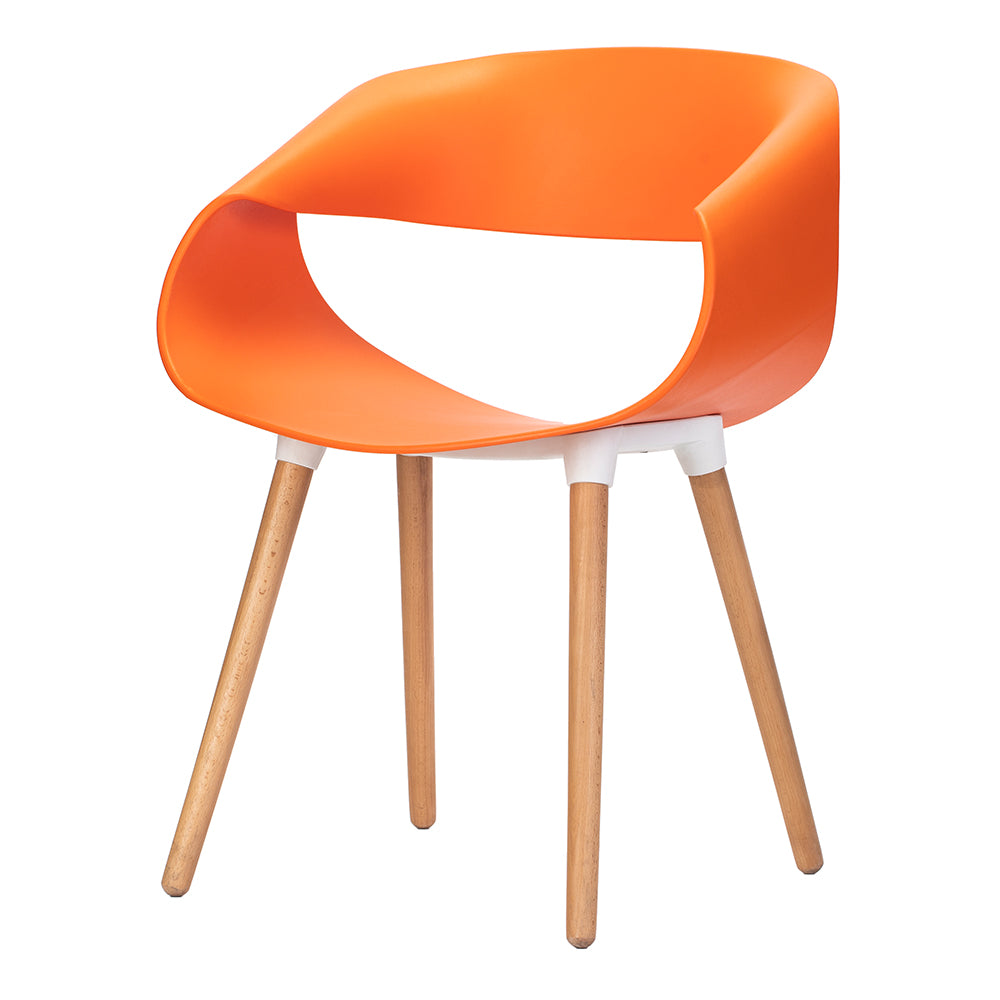 Celine Curl Ribbon Chair Orange - Fervor + Hue