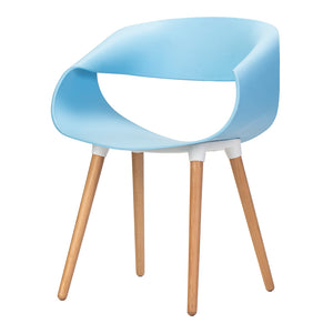 Celine Curl Ribbon Chair Blue - Available Now