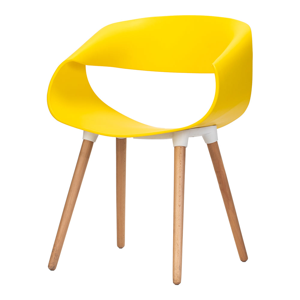 Celine Curl Ribbon Chair Yellow