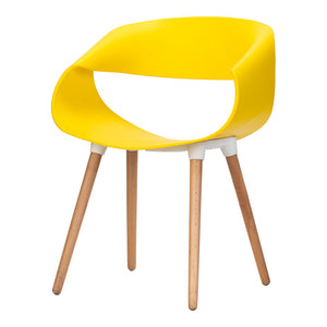 Celine Curl Ribbon Chair Yellow - Available Now