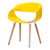 Celine Curl Ribbon Chair Yellow - Fervor + Hue