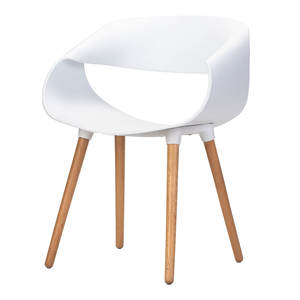 Celine Curl Ribbon Chair White - Fervor + Hue