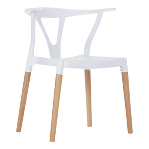 Wishbone Dinning Chairs White - Available now