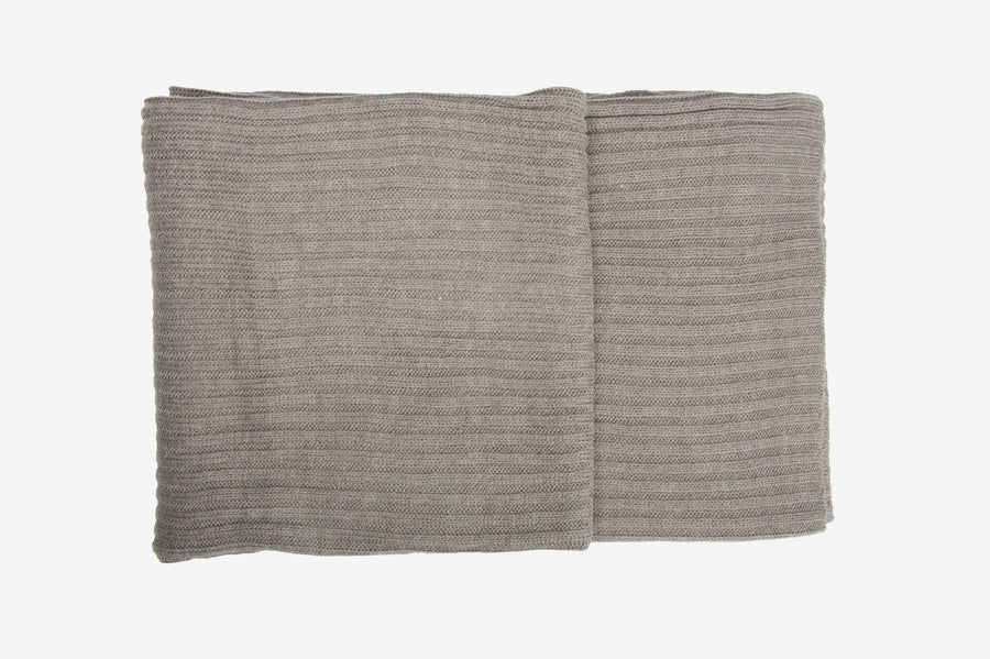 Scandi Wool Mix Throw Natural