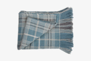 Tweedy Easy Weave Blue Throw