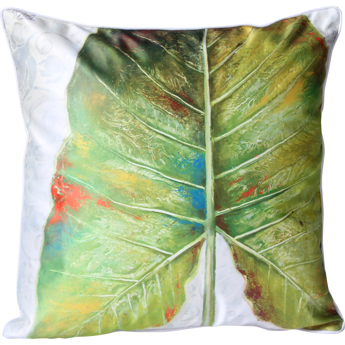 Botanical Flat Single Leaf Cushion