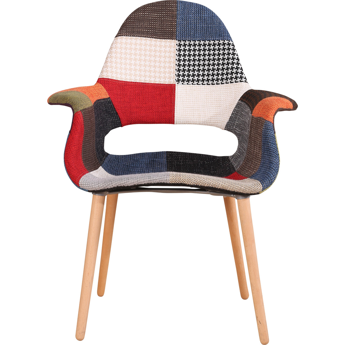 Emma Lounge Open Back Chair Patch Red Multi