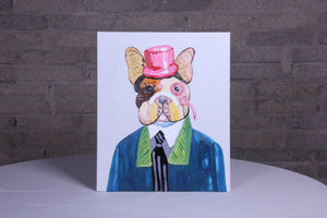"""Fine & Dandy"" hand painted animal wall art on canvas"