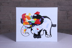 """The Little Elephant"" hand painted animal wall art on canvas"