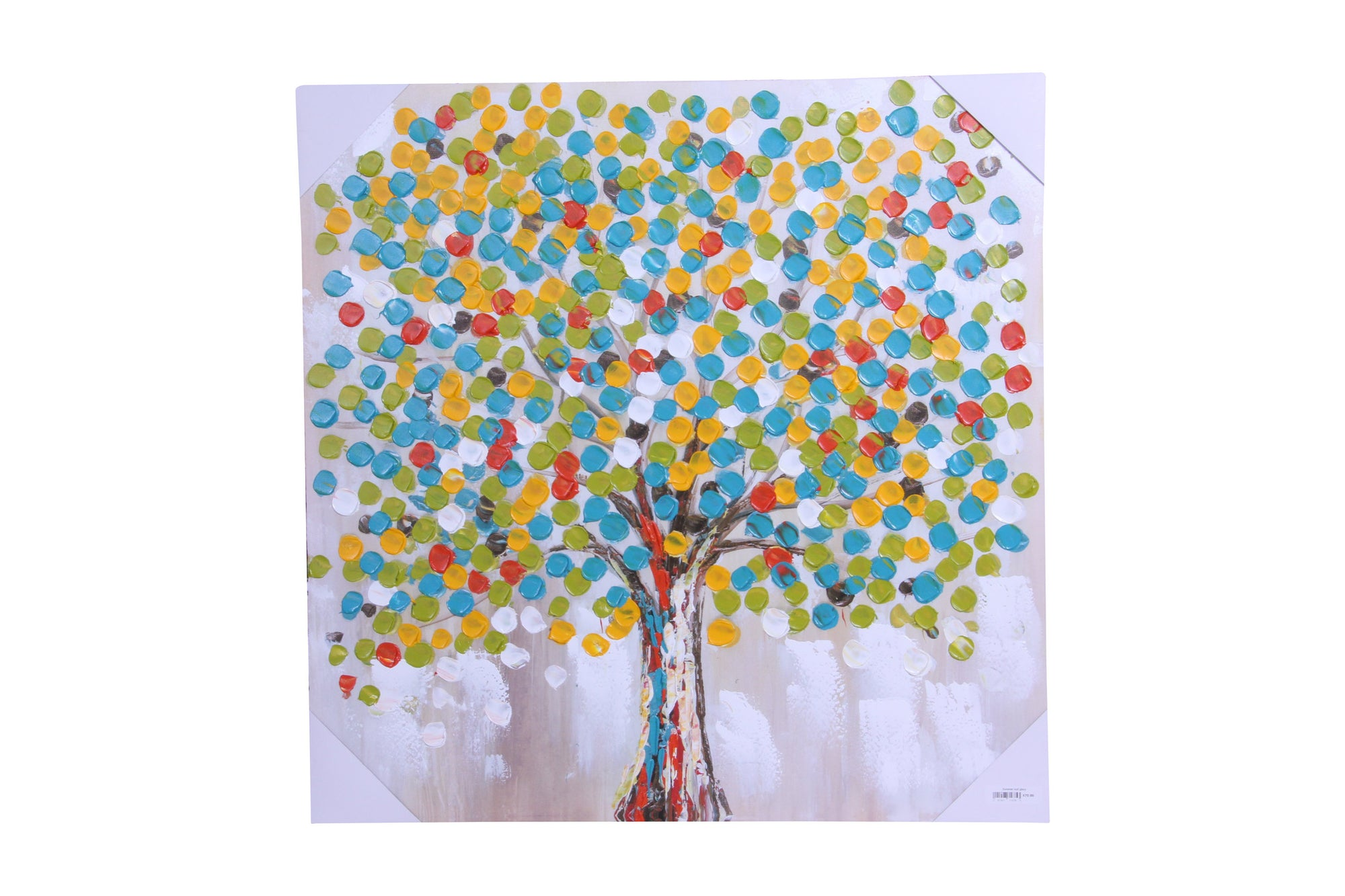 summer leaf glory hand painted wall art on canvas - Fervor + Hue