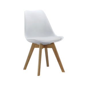 Eames Style Chairs White with padded seat - Pre order now