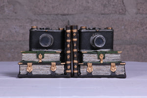 Bookends retro camera