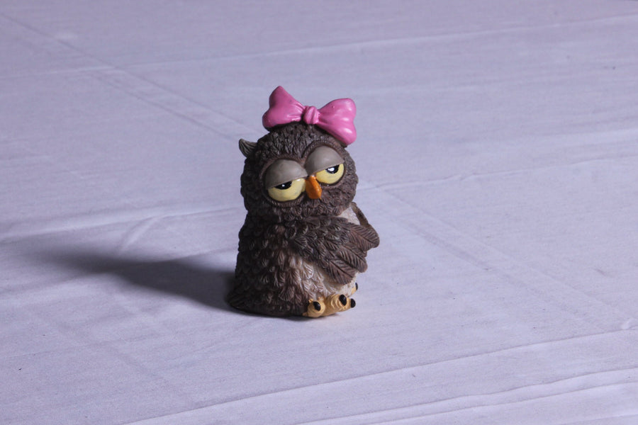 Little Cute Bow Owl
