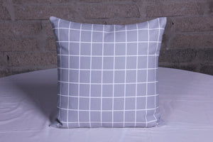 Retro grey check Cushion