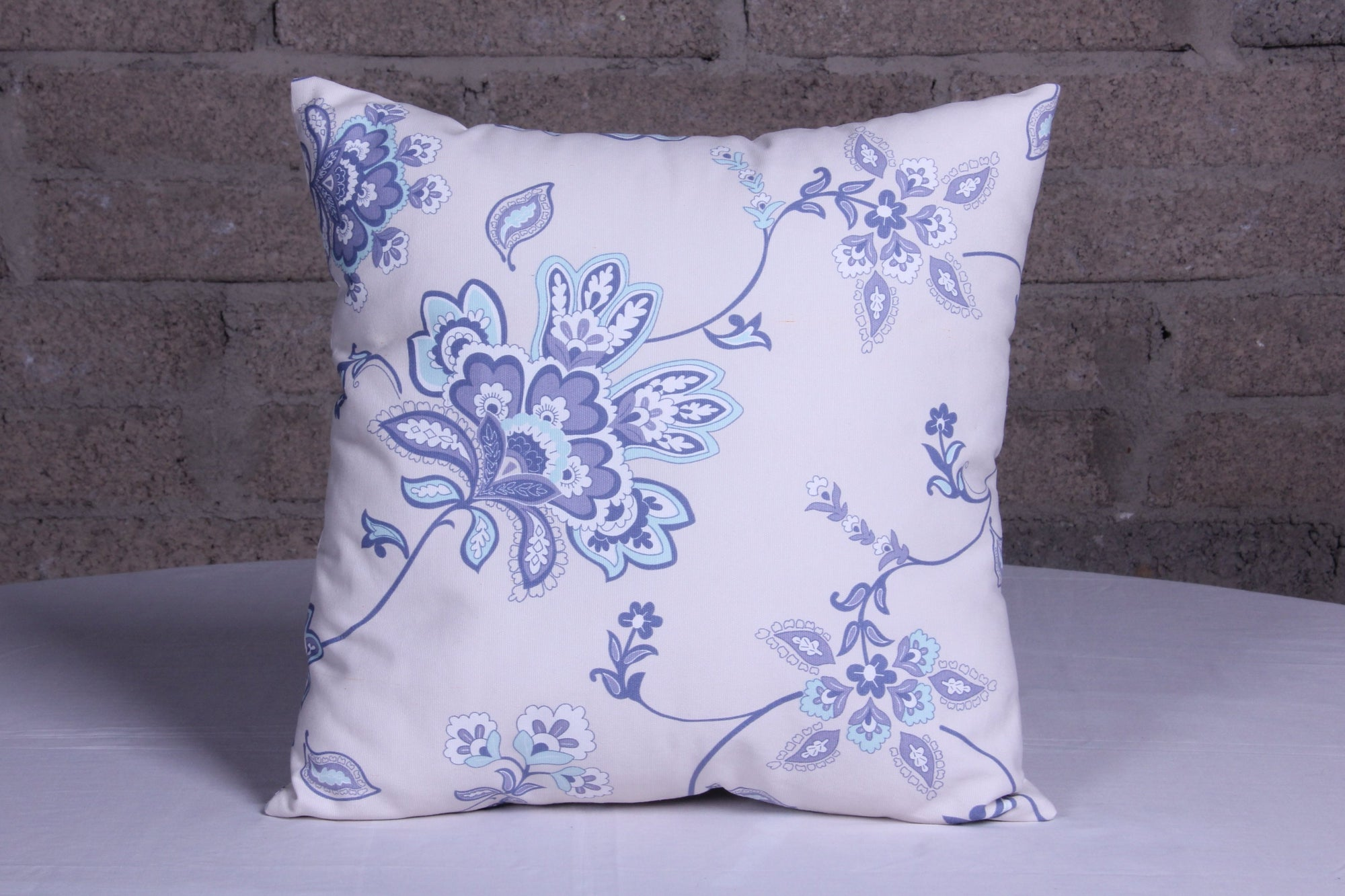 Vintage Denim Floral Blue Cushion- Cover only - Fervor + Hue