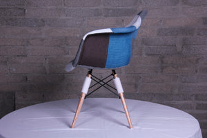 Eames Style Studio Chairs Blue Patchwork - Fervor + Hue