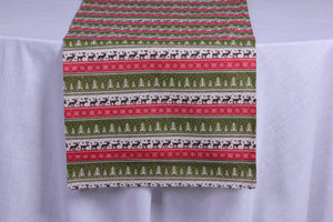 Winter forest table runner